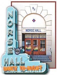 Norse Hall Sign and Door